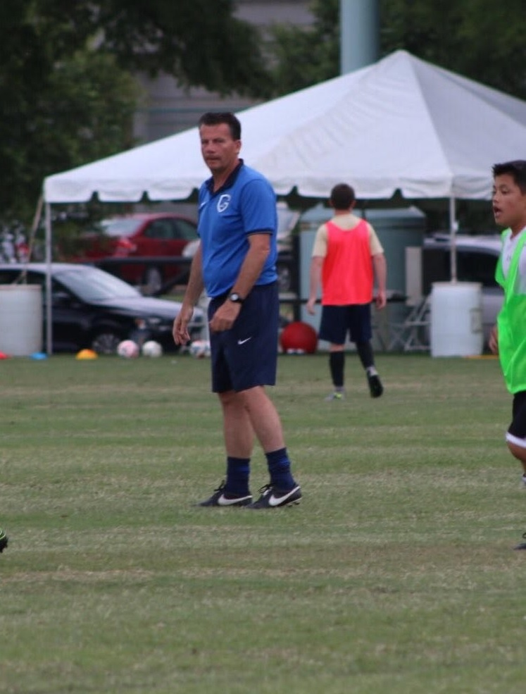 Peter Reynders, Genk Academy Coach, during Navy Soccer Camp