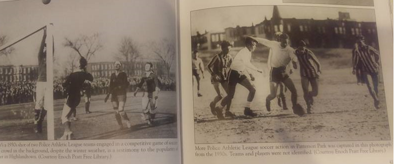1930's Police Athletic League Soccer at Patterson Park